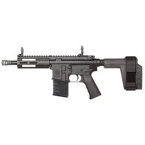 "Kriss USA Defiance DMK22P .22 Long Rifle AR-15 Style Semi Auto Pistol 8"" Barrel 15 Round Capacity 5"" Free Float M-LOK Hand Guard SB Brace Black Finish"