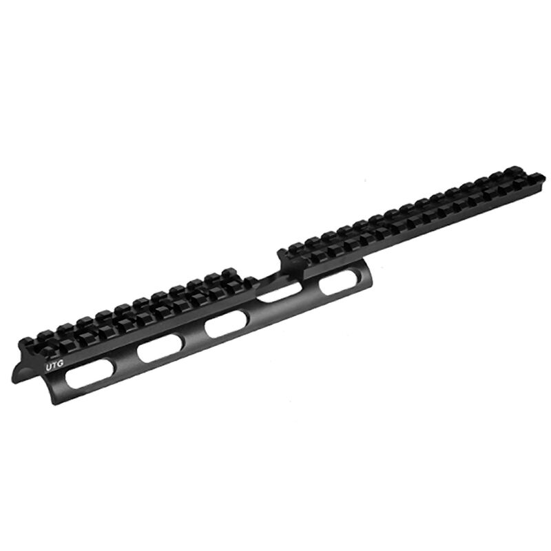 "10/22 Scout Slim Rail Extended Scope Mount 11.7"" Long 26 Slots Leapers UTG Aluminum Black"