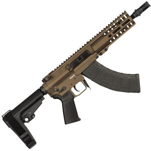 "CMMG Banshee 300 Mk47 7.62x39mm AR-15 Semi Auto Pistol 8"" Barrel 30 Round AK-47 Magazine RML6 M-LOK Handguard CMMG Standard RipBrace Midnight Bronze Finish"