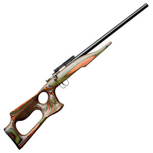 "Keystone Sporting Arms Chipmunk Single Shot Rifle .22 LR 16.1"" Barrel 1 Round Weaver Scope Base Camo Laminate Barracuda Thumbhole Stock Blued 00107"