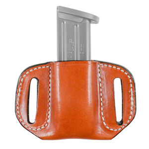 DeSantis The Reliant Single Magazine Belt Slide Pouch Fits 1911 in 10mm or 45 ACP Ambidextrous Leather Tan