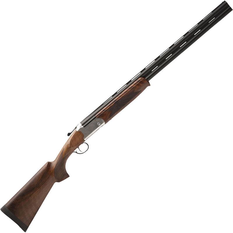 "Savage Arms 555 E 16 Gauge O/U Break Action Shotgun 28"" Barrel 2-3/4"" Chamber 2 Rounds Bead Front Sight Engraved Receiver Walnut Stock Silver/Black Finish"