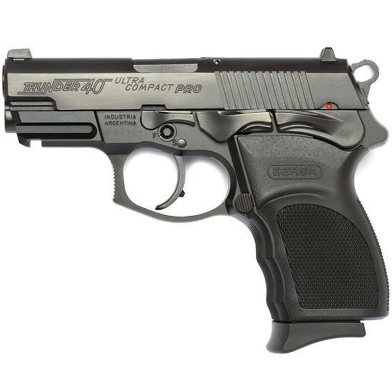 The Bersa Thunder Pro Ultra Comp offers every built in custom deluxe feature that shooters demand for top performance. Comes standard with picatinny rail polygonal rifling and a loaded chamber indicator.
