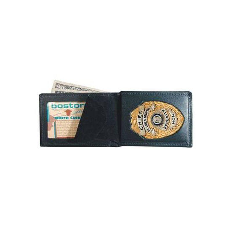Boston Leather Billfold Badge Wallet Leather 250-9004