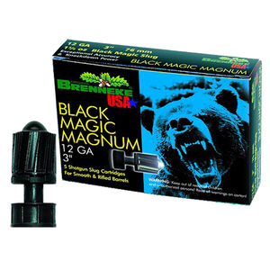 "Brenneke 12 Ga 3"" Black Magic Slug 1.375oz 5 Rounds"