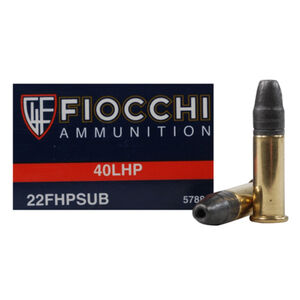 Fiocchi Subsonic .22LR Ammunition 40 Grain HP 957 fps