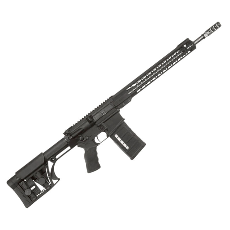 "ArmaLite AR-10 3 Gun Semi Auto Rifle 7.62 NATO 18"" Barrel 25 Rounds Timney Trigger  Adjustable Stock Black AR103GN18"