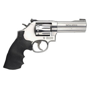 "S&W Model 617 .22 LR Revolver  4"" Barrel 10 Rounds Adjustable Sights Rubber Grips Satin Stainless Steel Finish"