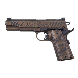 "Auto Ordnance Old Glory 1911 .45 ACP Semi Auto Pistol 5"" Barrel 7 Rounds Blade Front/Drift Adjustable Rear Sight Burnt Bronze Cerakote"