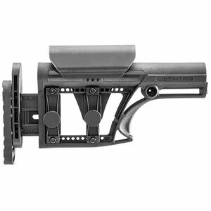 Luth-AR AR-15 MBA-1 Buttstock with 3-Axis Butt Plate Glass Filled Nylon Black