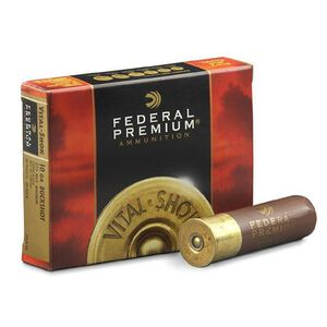 "Federal 10 Gauge Ammunition 5 Rounds 3.5"" 00 Buck Copper Plated 18 Pellets"