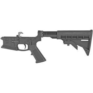 KE Arms KE-15 DMR AR-15 Complete Lower Receiver 5.56 NATO DMR Trigger Mil-Spec Pistol Grip/Stock Billet 7075-T6 Aluminum Hard Coat Anodized Matte Black Finish