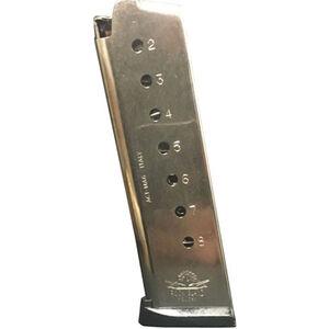Rock Island Armory Armscor 1911 Magazine .45 ACP 8 Rounds Steel Nickel Finish