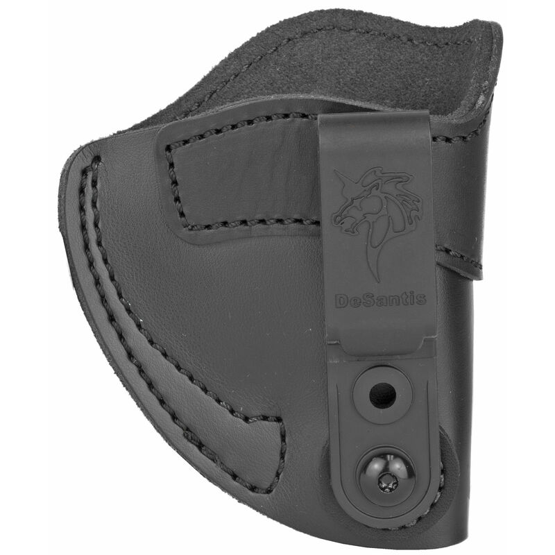 DeSantis Sof-Tuck 2.0 IWB Holster for S&W J Frame/Charter Arms Undercover/Ruger LCR, LCRX and Similar Right Hand Leather Black