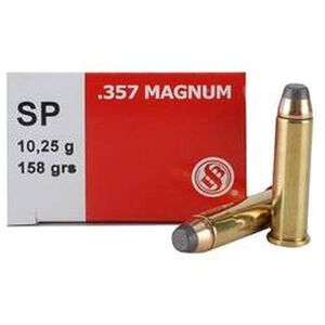 Sellier & Bellot .357 Magnum Ammunition 50 Rounds SJSP 158 Grains SB357B