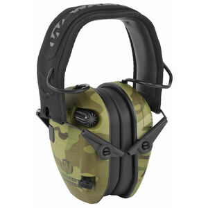 Walkers Razor Slim Electronic Earmuffs Ear Protection Tan Multicam