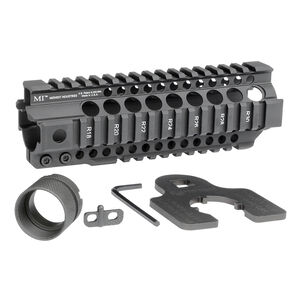 "Midwest Industries AR-15 Combat Rail T-Series 7.25"" One Piece Free Float Hand Guard 6061 Aluminum Hard Coat Anodized Matte Black Finish"