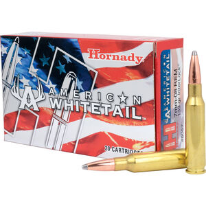 Hornady American Whitetail 7mm-08 Ammunition 20 Rounds InterLock JSP 139 Grains 8057