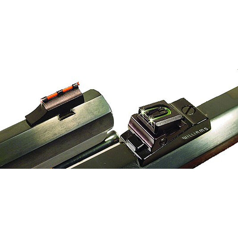 Williams Firesight Knight Muzzleloader Rifles Fiber Optic Sights Fixed Front Adjustable Rear Steel/Aluminum Matte Black