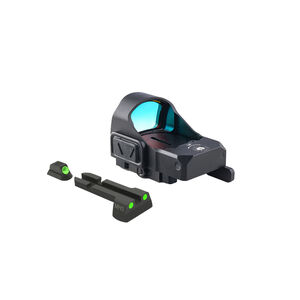 Meprolight MicroRDS Red Dot Micro Sight With CZ 75 Quick Detach Adapter and Backup Sights Black ML880501