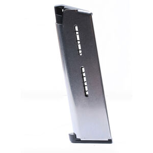Wilson Combat 1911 Heavy Duty +P Government/Commander Full Size 7 Round Magazine .45 ACP Lo-Profile Steel Base Pad Stainless Steel Natural Finish