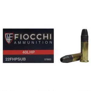 Fiocchi Subsonic .22LR Ammunition 40 Grain HP 957 fps