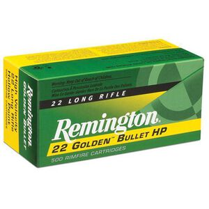 .22 LR Remington Golden Bullet 40 Grain PRN 1255 fps 50 Round Box 21006