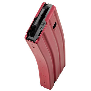 C Products Defense AR-15 5.56 NATO Magazine 30 Rounds Aluminum Construction Red Finish