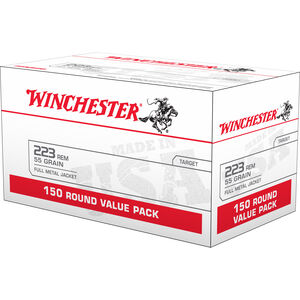 Winchester White Box .223 Remington Ammunition 55 Grain Full Metal Jacket 20 Rounds 3240 fps