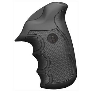 Pachmayr Diamond Pro Ruger GP100 Checkered Grips Rubber Black 02484