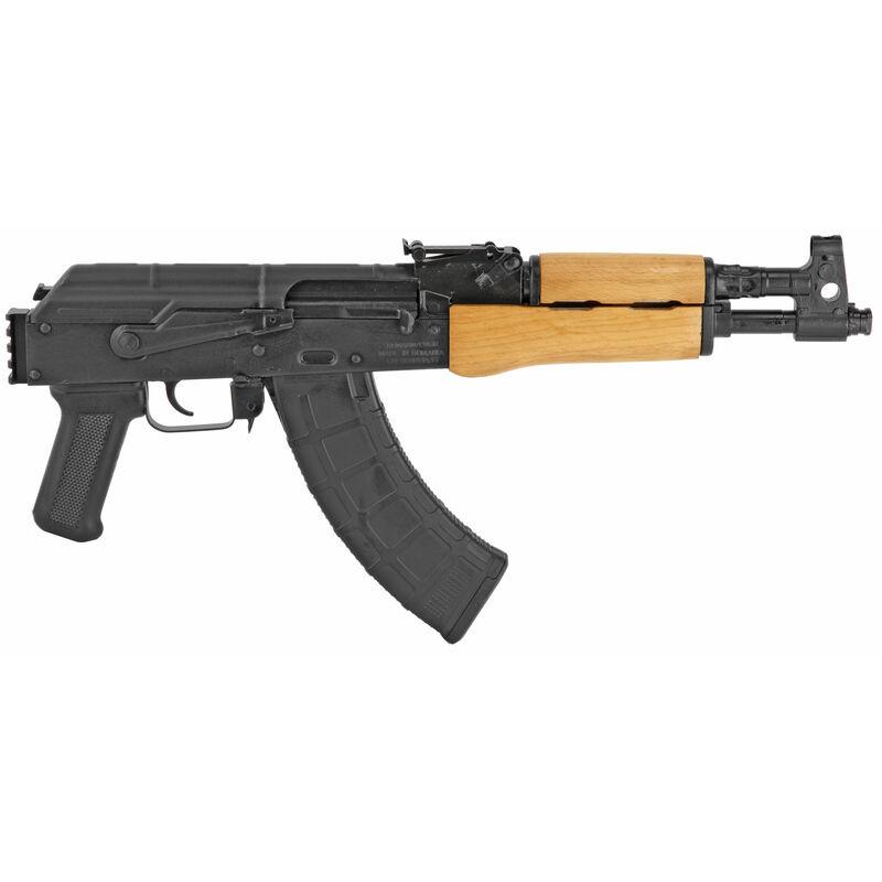 "Century Arms Romanian Draco 7.62x39 Semi Auto Pistol 12.25"" Barrel 30 Rounds Wood Forend Picatinny Arm Brace Mount Matte Black"