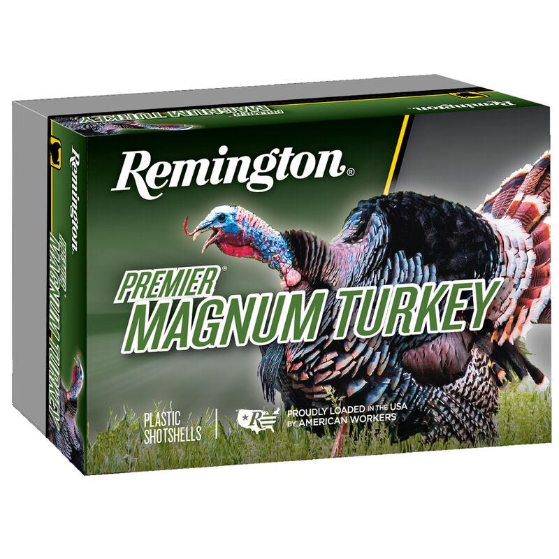 "Remington Premier Magnum Turkey 12 Gauge Ammunition 5 Rounds 3"" Shell #6 Copper-Plated Hardened Lead Shot 1.25 oz 1185 fps"