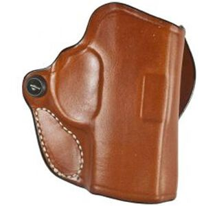 DeSantis Mini Scabbard Belt Holster For GLOCK 26/27/33/39 Right Hand Leather Tan 019TAE1Z0