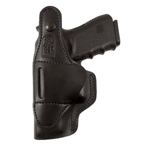DeSantis Dual Carry II IWB/OWB Holster S&W J Frame Revolvers Right Hand Leather Black 033BA02Z0