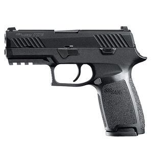 "SIG Sauer P320 Nitron Carry Semi Auto Pistol 9mm Luger 3.9"" Barrel 17 Rounds SIGLite Sights Modular Polymer Grip Nitron Finish Matte Black"