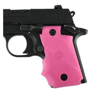 Hogue Soft Overmold SIG P938 Grips with Finger Grooves Rubber Pink 98087