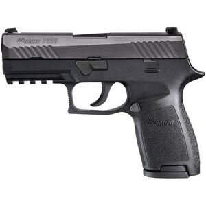 "SIG Sauer P320 Nitron Compact Semi Auto Pistol 9mm Luger 3.9"" Barrel 15 Rounds Contrast Sights SIG Rail Modular Polymer Frame/Grip Matte Black Finish"