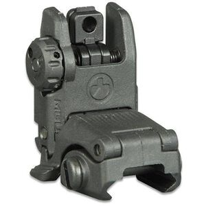 Magpul MBUS Gen 2 Flip-Up Rear Sight AR-15 Picatinny Compatible Injection Molded Polymer Black