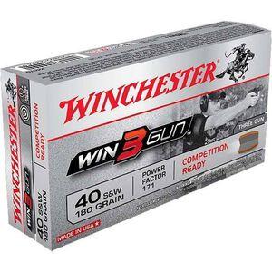 Winchester Win3Gun .40 S&W 180 Grain BEB 50 Round Box