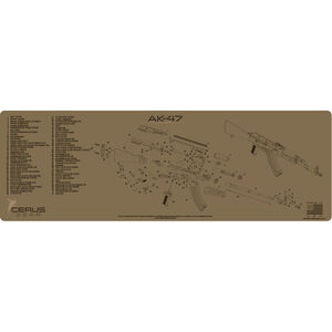 "Cerus Gear AK-47 Schematic ProMat Rifle Size 12""x36"" Synthetic Coyote Tan"