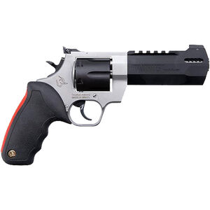 """Taurus Raging Hunter .44 Mag DA/SA Revolver 5.125 """" Ported Barrel 6 Rounds Adjustable Rear Sight Picatinny Top Rail Rubber Grip Two Tone Stainless/Black"""