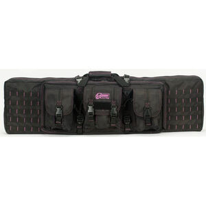 "Major Surplus 42"" Padded Weapons Case Black with Pink Stitching"