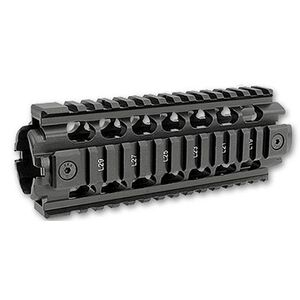 ERGO AR-15 Z Rail Two Piece Drop-In Handguard Aluminum Black 4811-P