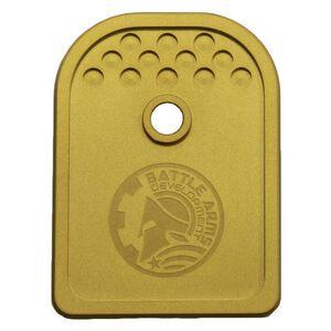Battle Arms Development Magazine Baseplate for Glock 9mm Gold