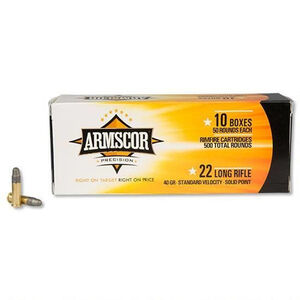 Armscor Precision .22LR Ammunition 40 Grain LRN 1135 fps