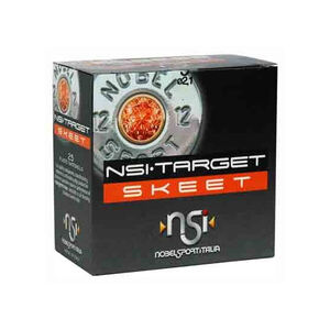 "NobelSport Target Skeet 12 Gauge 2-3/4"" #9 Lead 1-1/8 Ounce 25 Round Box"