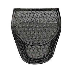 Bianchi Model 7900 Covered Handcuff Case, Plain Finish, Chrome Snap 23014