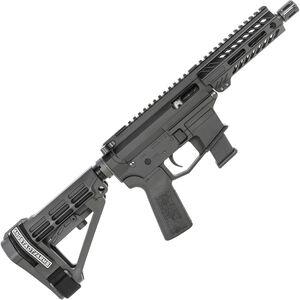 "Angstadt Arms UDP-9 9mm Luger AR Style Semi Auto Pistol 6"" Barrel  GLOCK Style Mag M-LOK Handguard SBA4 Brace Black"