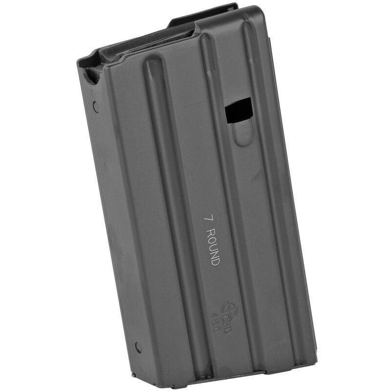 DURAMAG by CProductsDefense AR-15 SS Magazine .450 Bushmaster 7 Rounds Stainless Steel Matte Black Finish