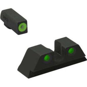 Meprolight Hyper-Bright Tritium Day and Night Sight Front Green Ring/Rear Green for Glock 42/43/43x/48